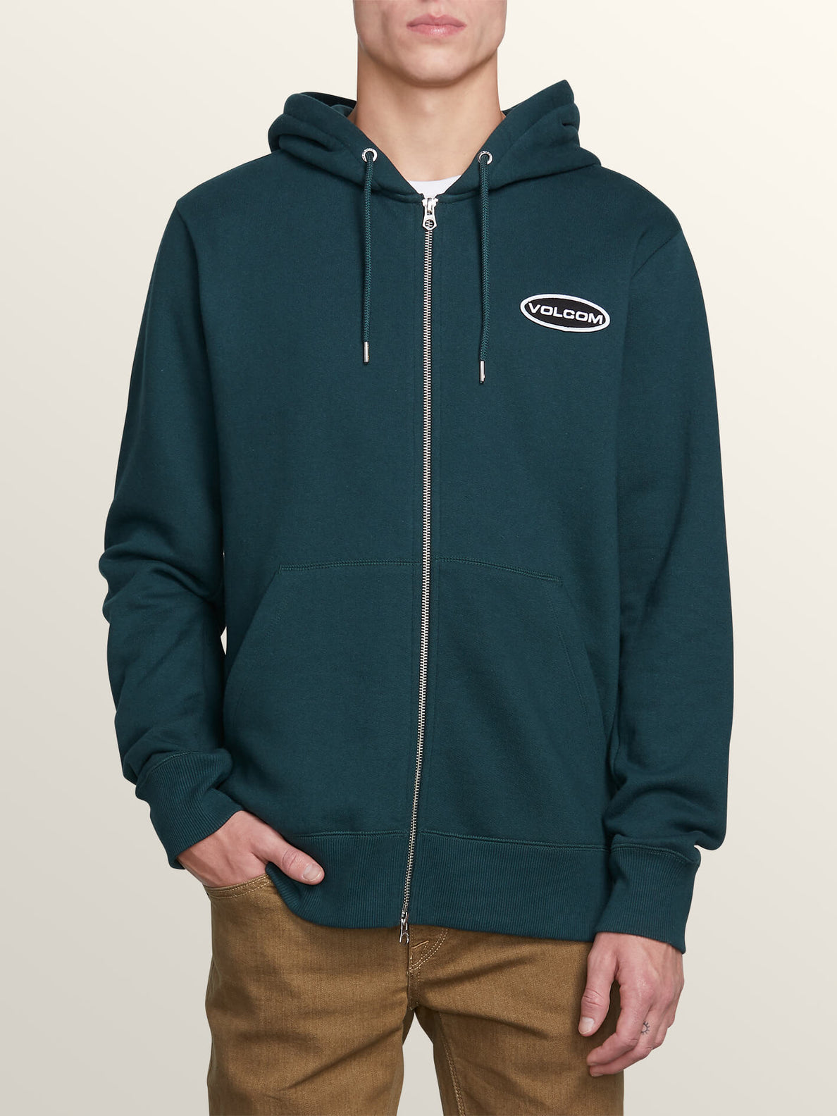 Shop Zip Hoodie In Dark Pine, Front View