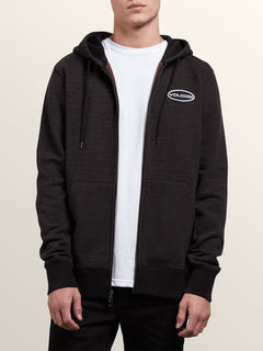 Shop Zip Hoodie In Lead, Alternate View