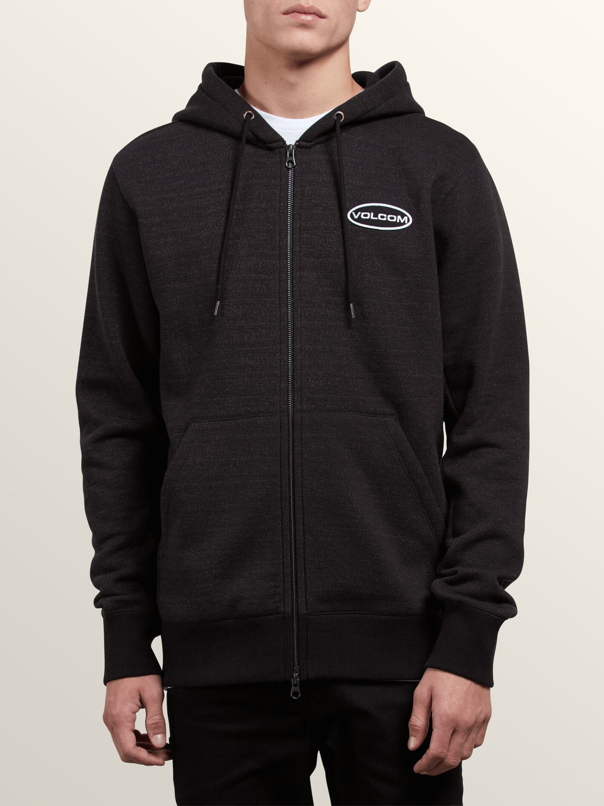 Shop Zip Hoodie In Lead, Front View