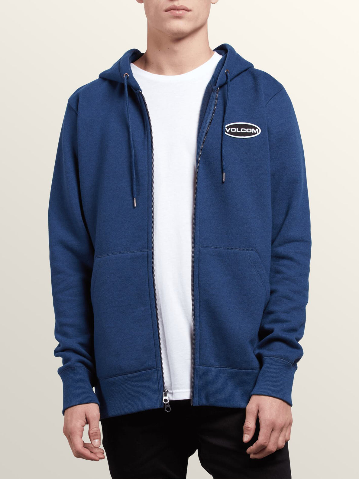 Shop Zip Hoodie In Matured Blue, Alternate View