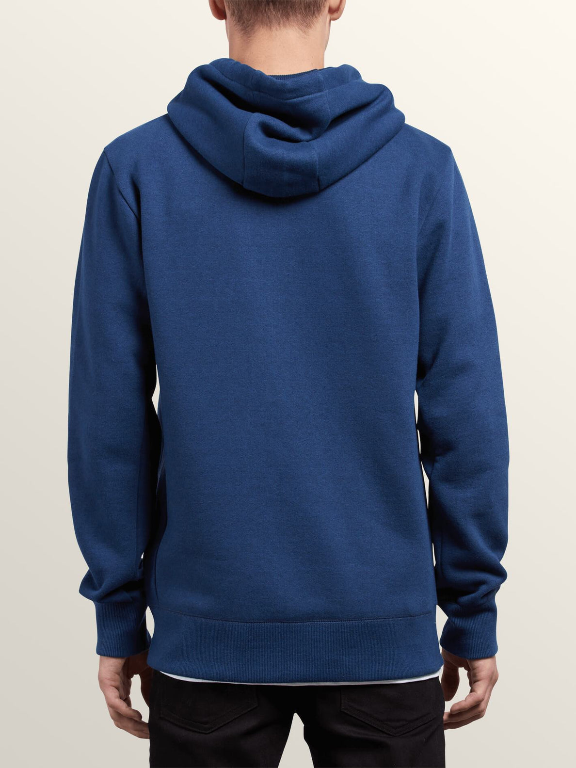 Shop Zip Hoodie In Matured Blue, Back View