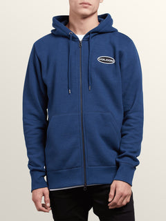 Shop Zip Hoodie In Matured Blue, Front View