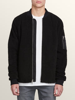 Field Polar Fleece In Black, Alternate View