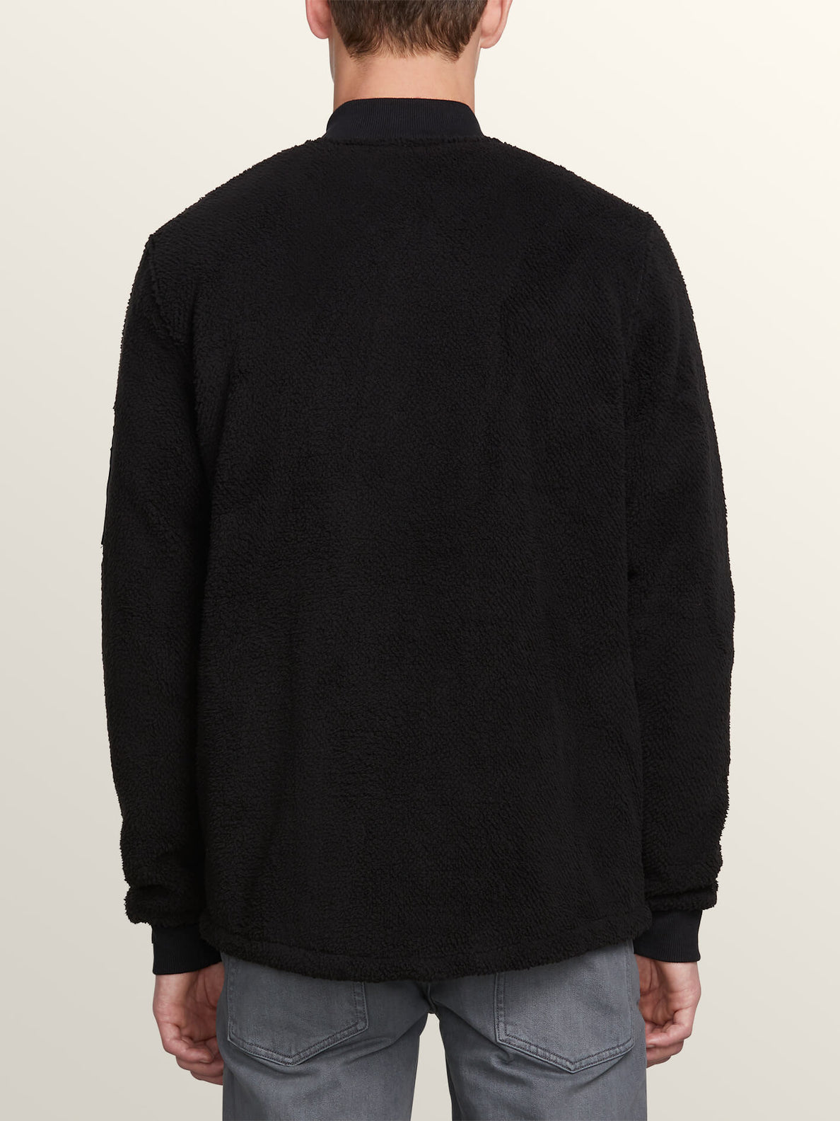 Field Polar Fleece In Black, Back View