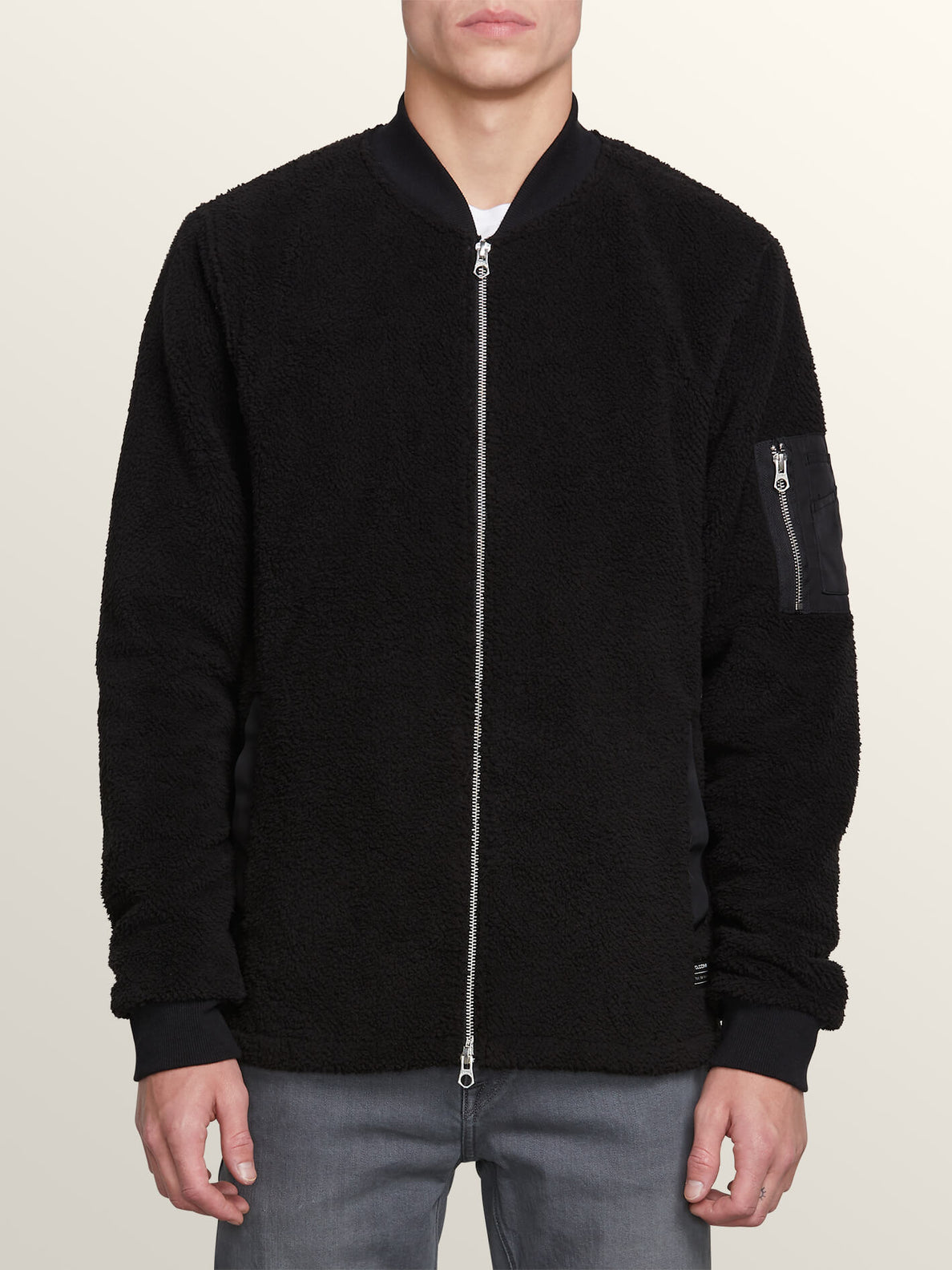 Field Polar Fleece In Black, Front View