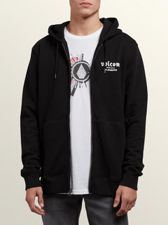 Supply Stone Zip Hoodie In Black, Alternate View
