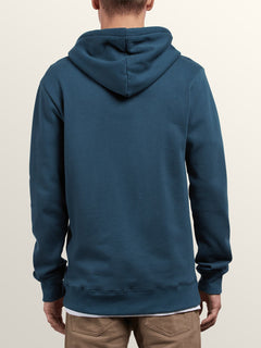 Supply Stone Zip Hoodie In Navy Green, Back View