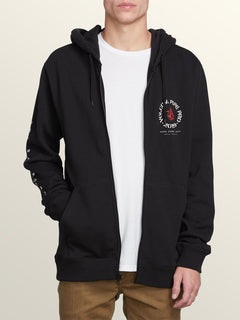 Pipe Pro Zip Hoodie In Black, Alternate View