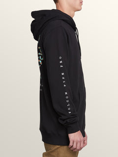 Pipe Pro Zip Hoodie In Black, Second Alternate View