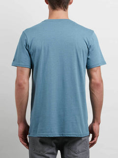 Solid Ss Tee In Aqua, Back View