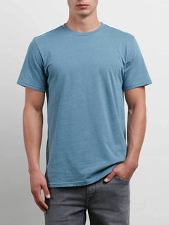 Solid Ss Tee In Aqua, Front View