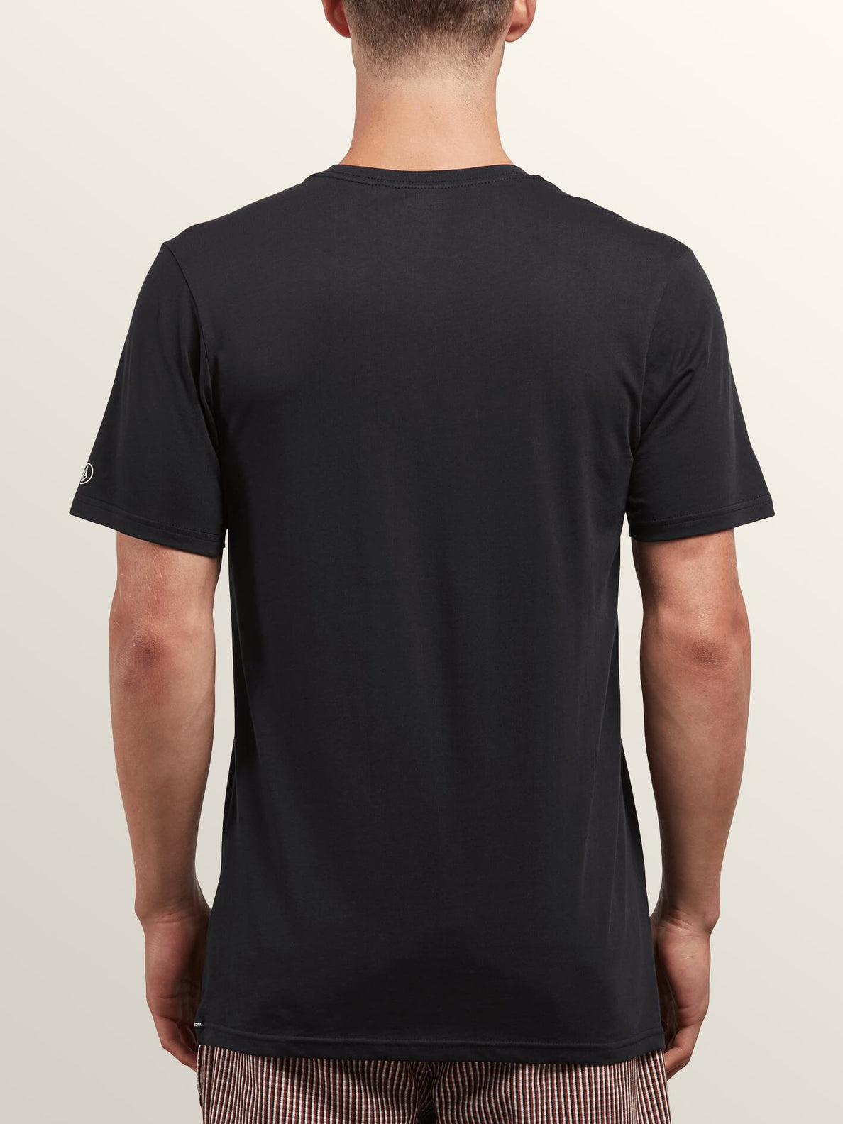 Solid Ss Tee In Black, Back View