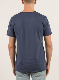 Solid Ss Tee In Blue, Back View