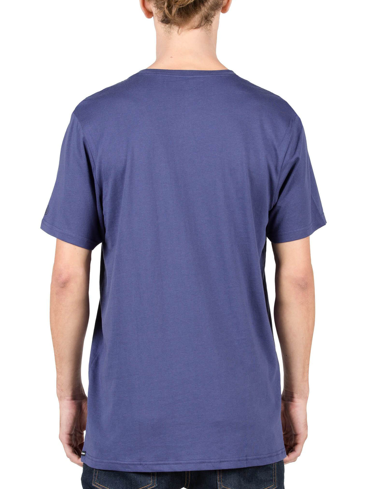Solid Ss Tee In Blue Plum, Back View