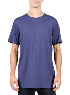 Solid Ss Tee In Blue Plum, Front View