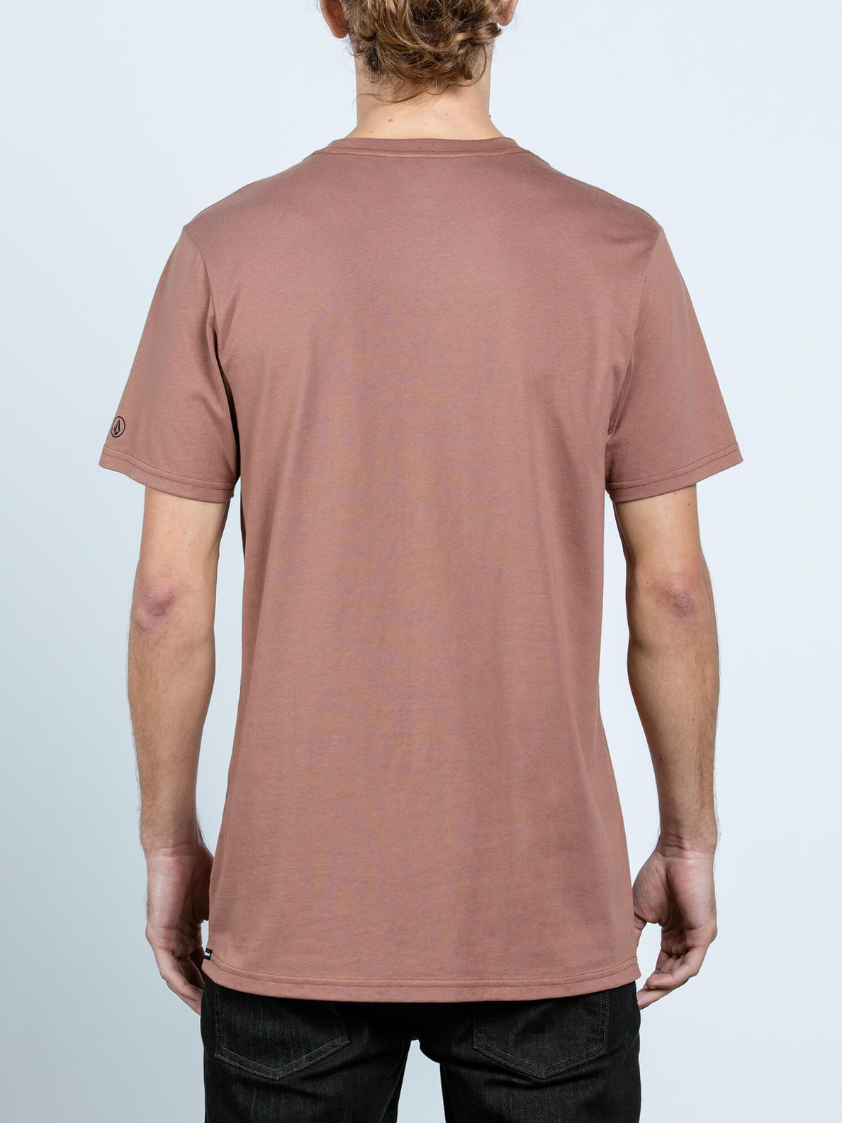 Solid Ss Tee In Dusty Brown, Back View