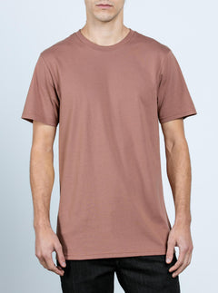 Solid Ss Tee In Dusty Brown, Front View