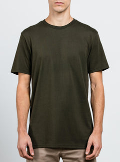 Solid Ss Tee In Dark Green, Front View