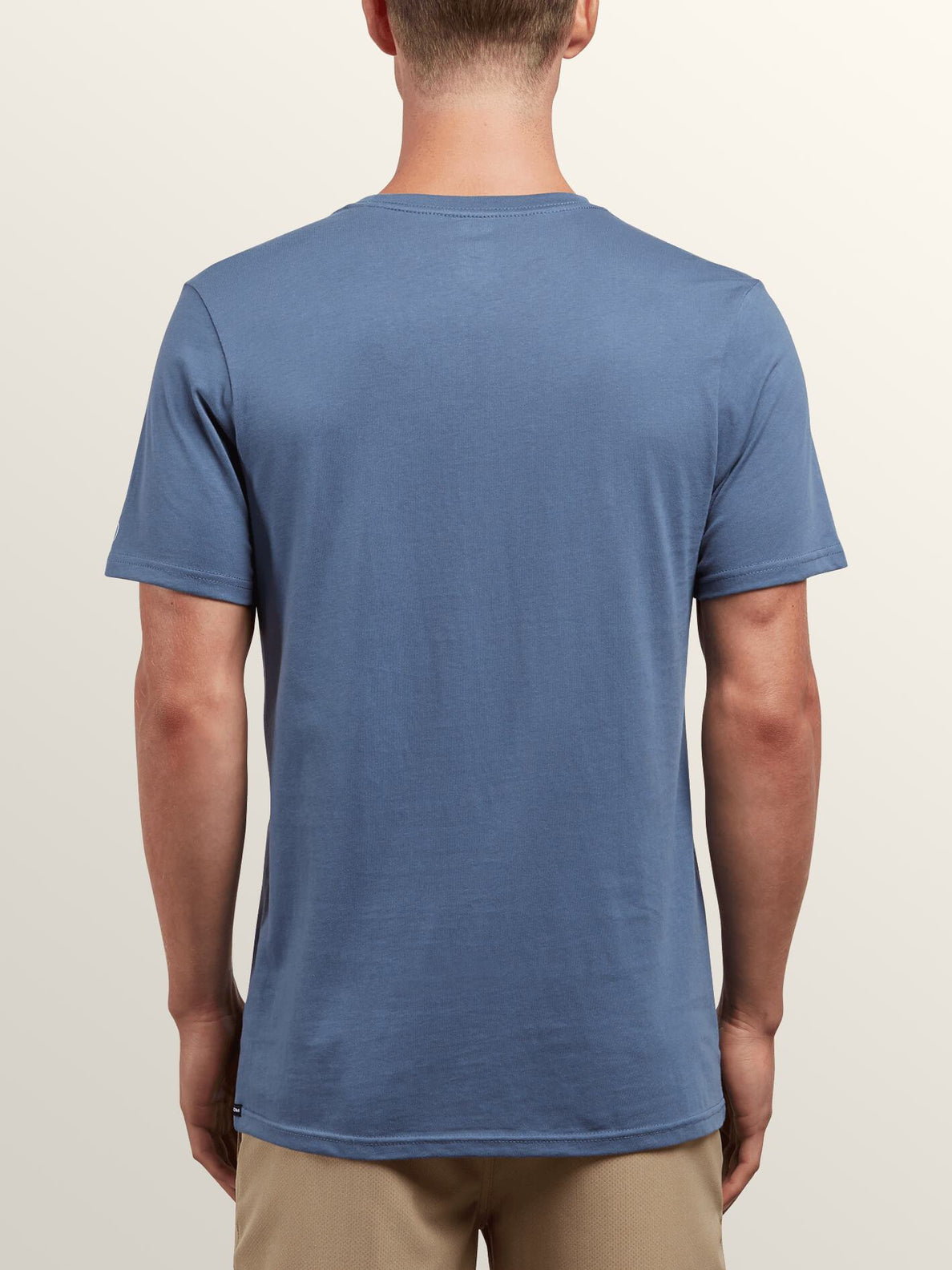 Solid Ss Tee In Deep Blue, Back View