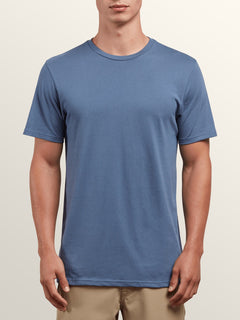 Solid Ss Tee In Deep Blue, Front View