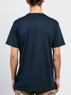 Solid Ss Tee In Navy, Back View