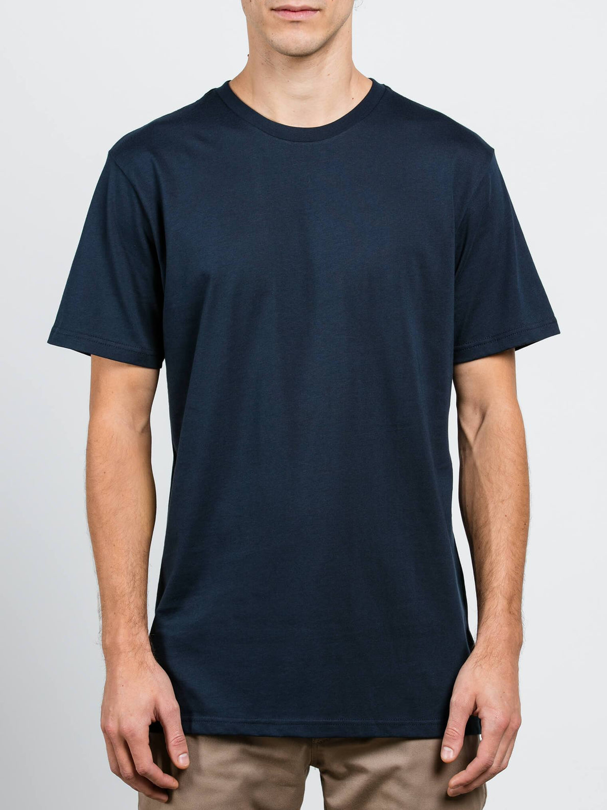 Solid Ss Tee In Navy, Front View