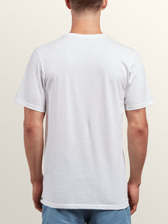 Solid Ss Tee In White, Back View