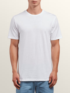 Solid Ss Tee In White, Front View