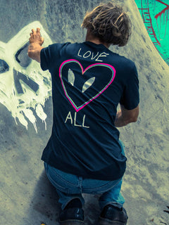 Love Tee In Black, Alternate View