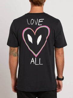 Love Tee In Black, Back View