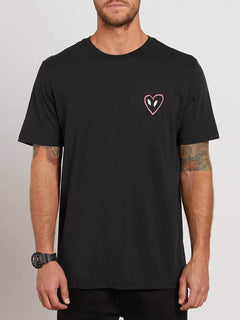 Love Tee In Black, Front View