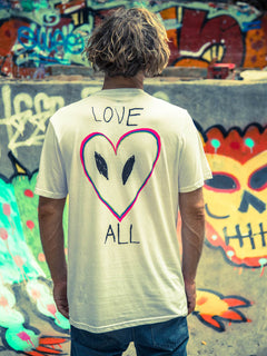 Love Tee In White, Second Alternate View