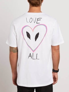 Love Tee In White, Back View