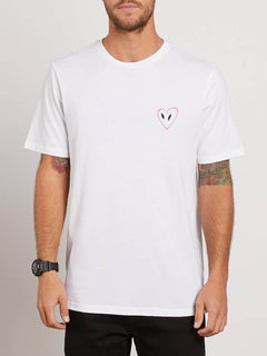 Love Tee In White, Front View