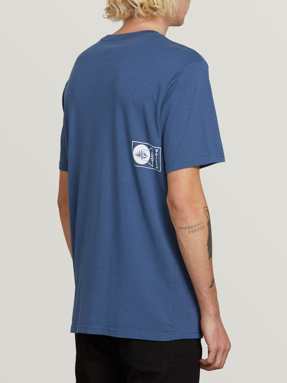 Audio Waves Short Sleeve Tee In Indigo, Alternate View
