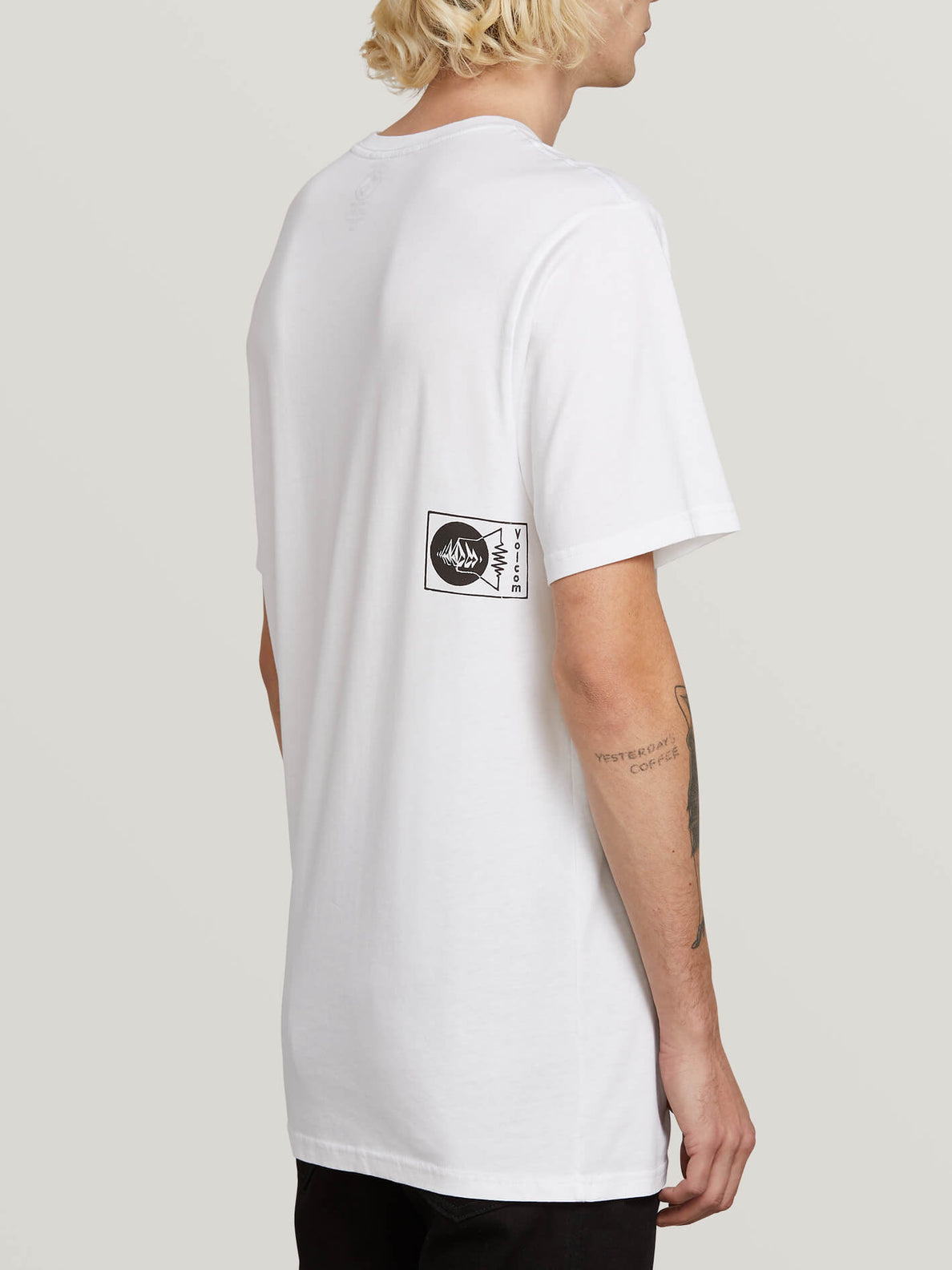 Audio Waves Short Sleeve Tee In White, Alternate View