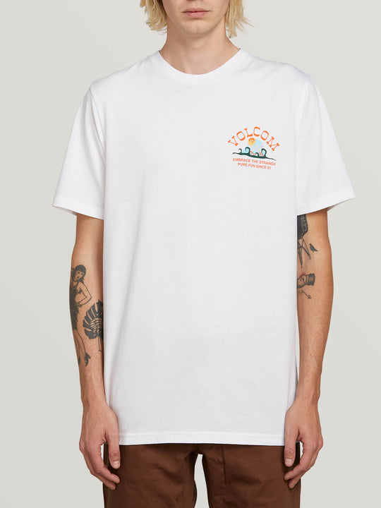 Natural Fun Short Sleeve Tee In White, Front View