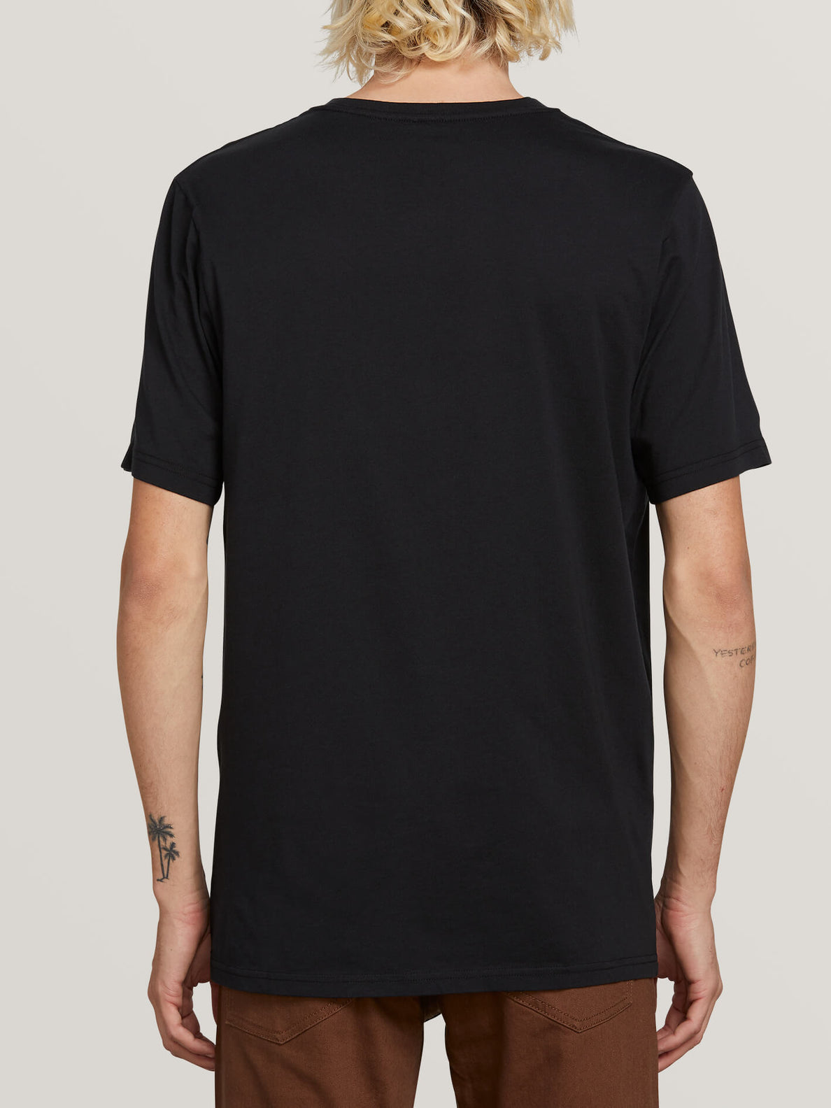 Stone Sounds Short Sleeve Tee In Black, Back View