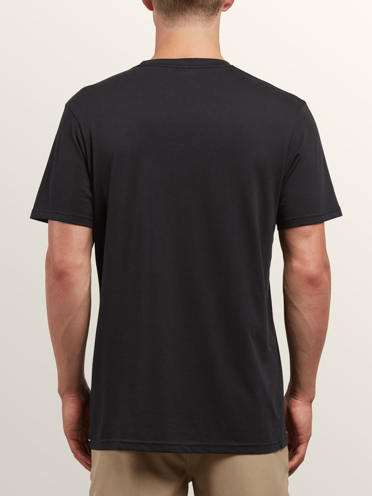 Cover Short Sleeve Tee In Black, Back View
