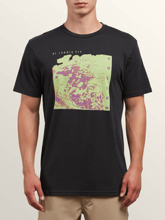 Cover Short Sleeve Tee In Black, Front View