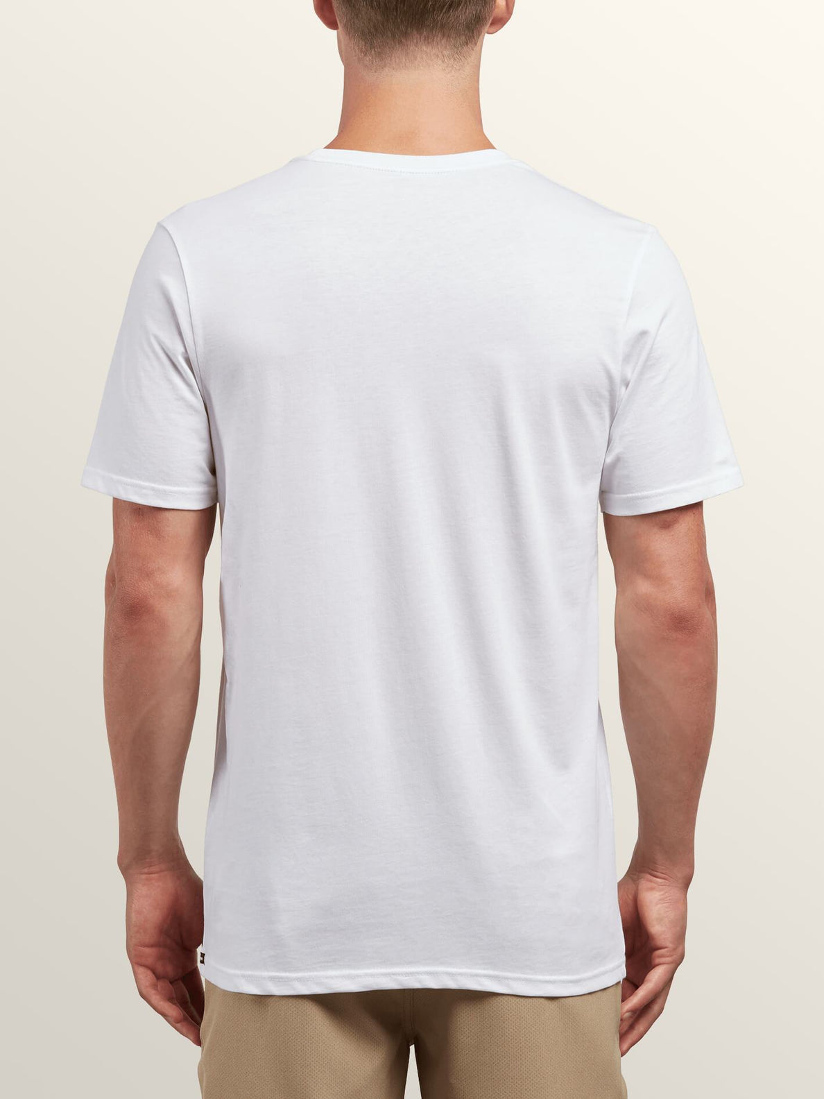 Cover Short Sleeve Tee In White, Back View