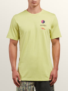 Neon Levitate Short Sleeve Tee In Shadow Lime, Front View