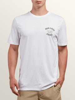 Pair-o-dice Short Sleeve Tee In White, Front View