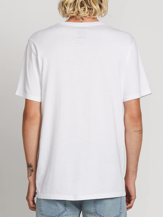 Sub Bar Logo Short Sleeve Tee In White, Back View