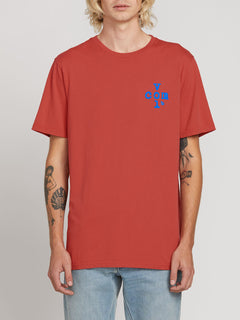 Volcom Plus Short Sleeve Tee In Mineral Red, Front View