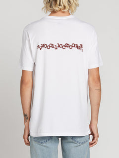 Volcom Plus Short Sleeve Tee In White, Back View