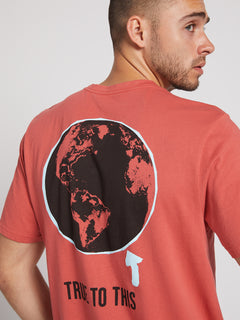Message Short Sleeve Tee In Mineral Red, Alternate View