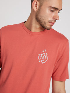 Message Short Sleeve Tee In Mineral Red, Second Alternate View