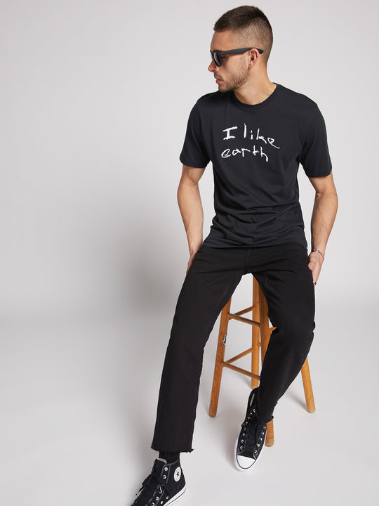 Localism Short Sleeve Tee- Black In Black, Alternate View
