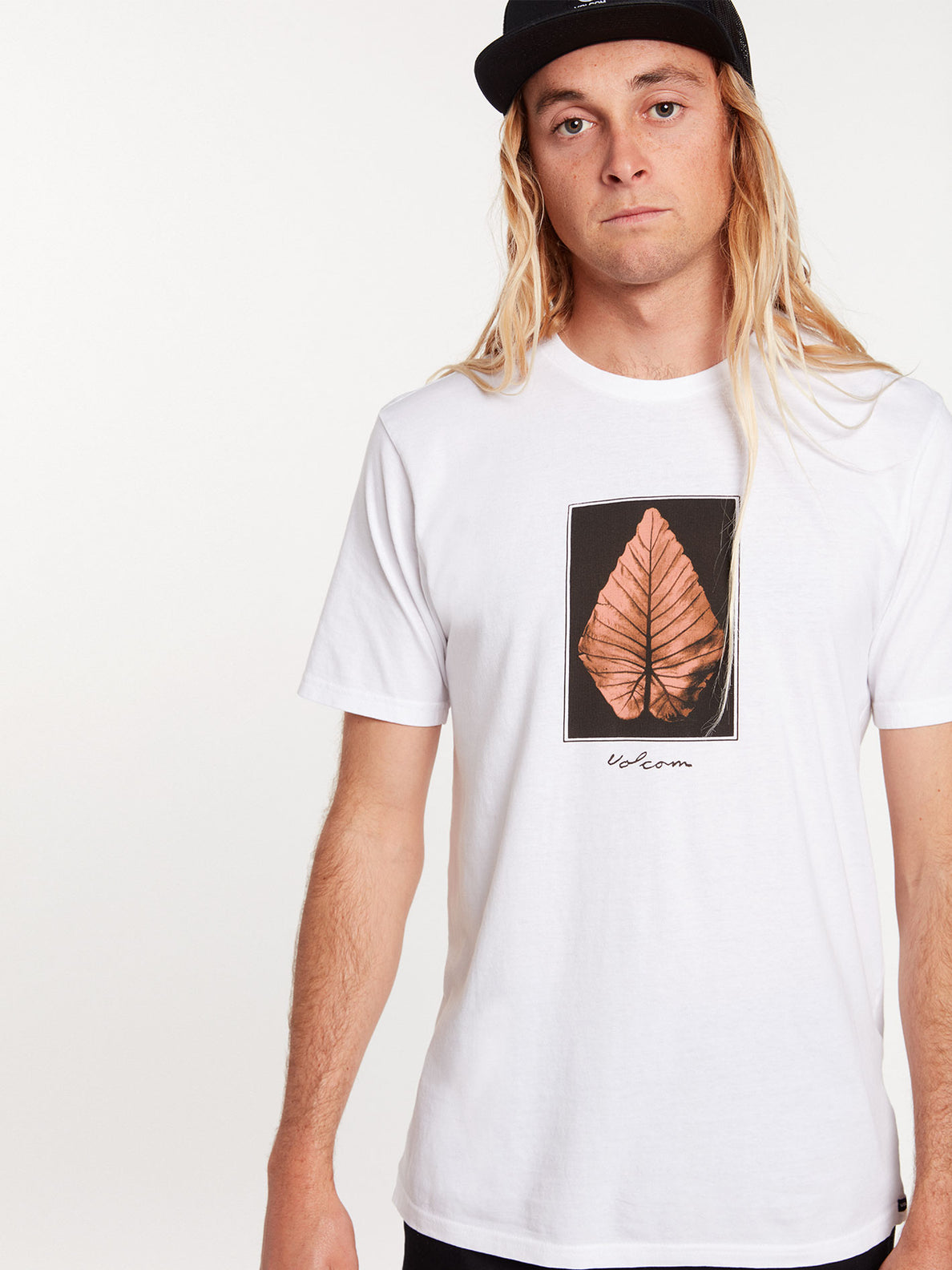 Frond Short Sleeve Tee - White (A5022003_WHT) [12]